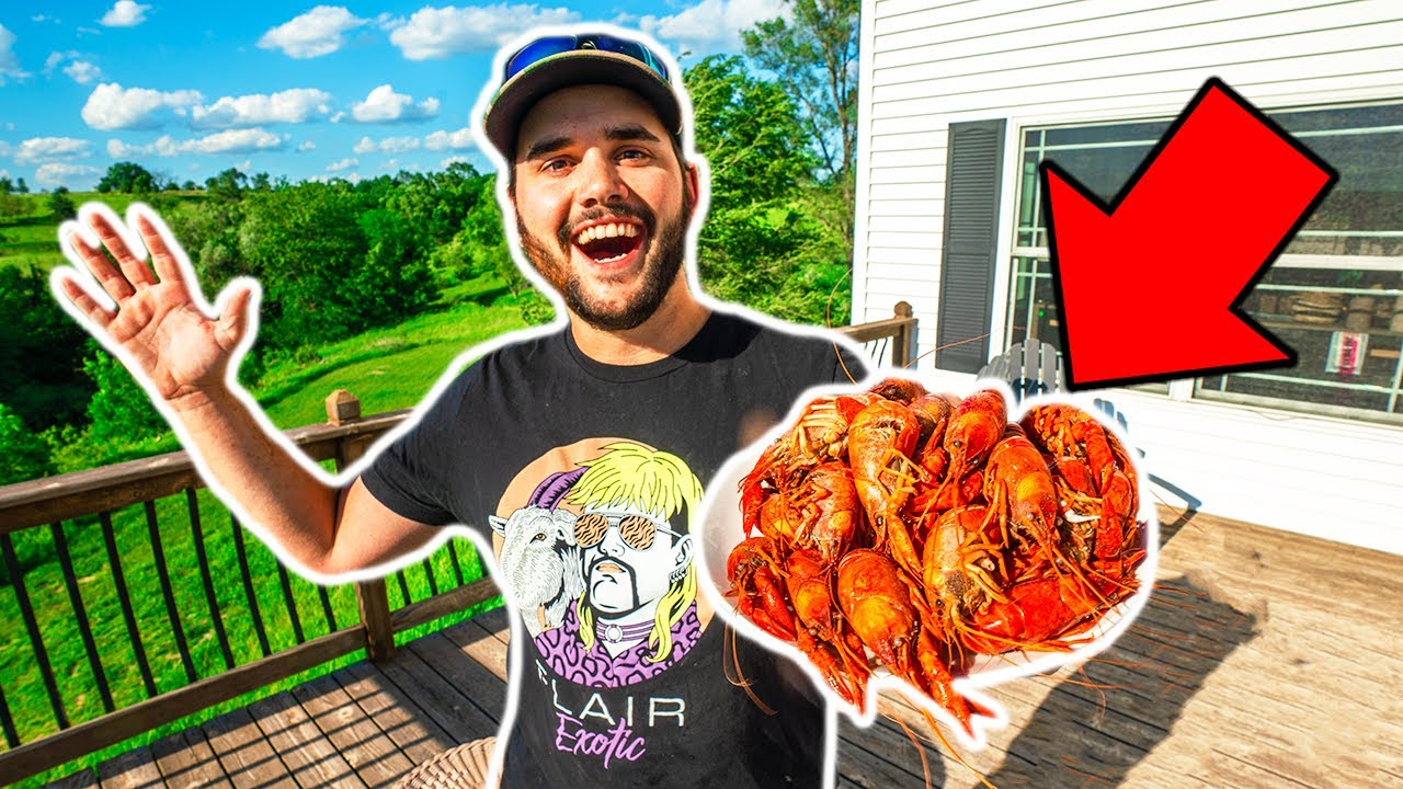 GIANT CRAWFISH BOIL in My BACKYARD!!! (Catch Clean Cook)