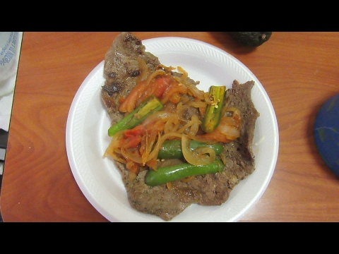 Bistec a la Mexicana/ Mexican Beef steak