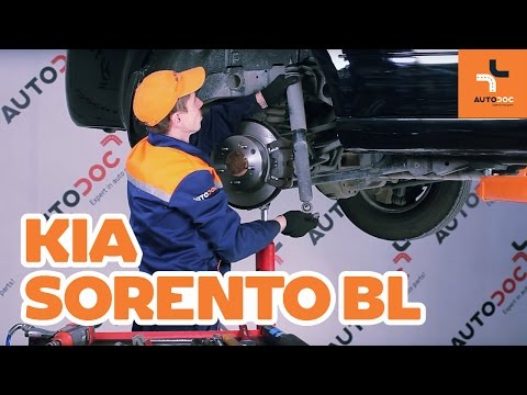 How to replace rear shock absorbers on KIA SORENTO BL TUTORIAL | AUTODOC