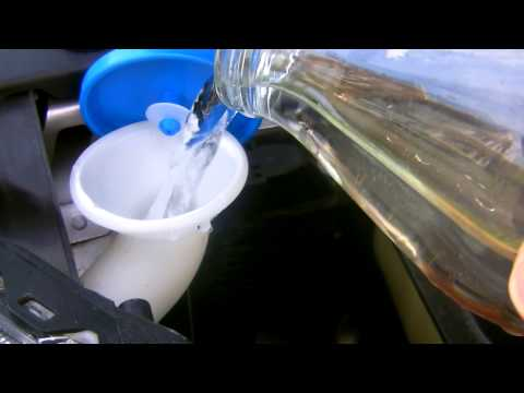 Filling Your Car's Windshield Water Tank