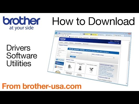 How to download software, drivers, or utilites from Brother-USA.com