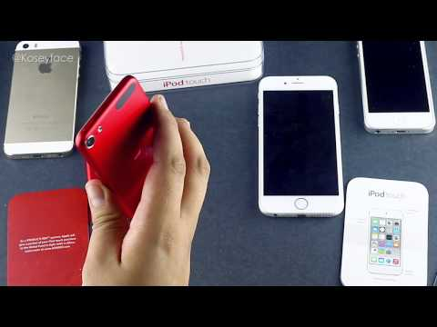 iPod Touch 6th Gen Unboxing & Hands On Review - Size Comparison iphone 6 Test Product RED