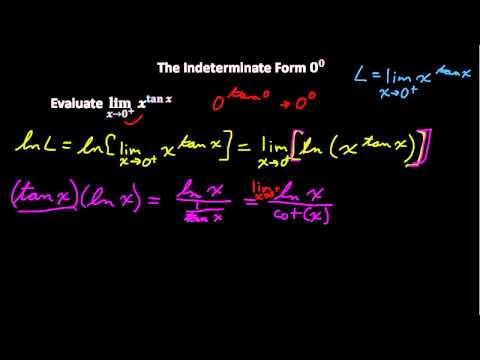 Indeterminate Form 0 to 0