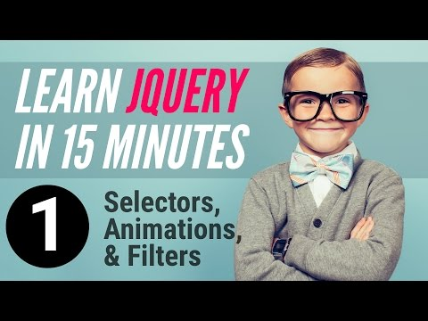 Learn jQuery in 15 minutes – Part 1 – Selectors, Animations, Filters