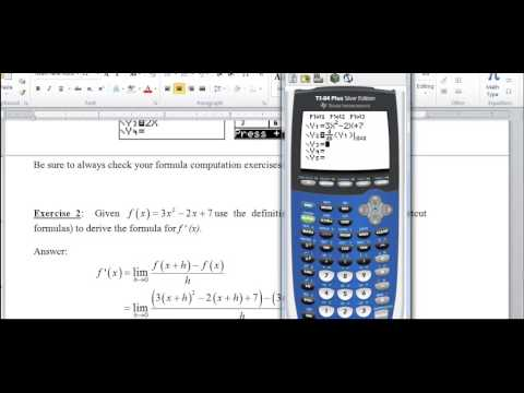 Calculus 2.18  Finding the Formula for the Derivative Function via the Definition