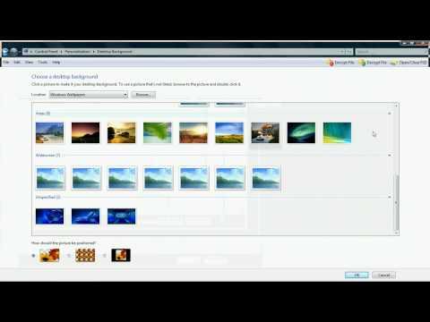 Change your desktop background in Windows Vista