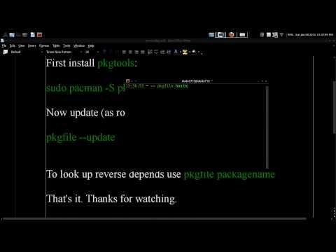 Reverse Depends Lookup Arch GNU / Linux