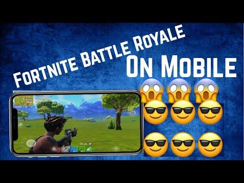 Fortnite Battle Royale on Mobile! Gameplay 😱🤩 Part 1