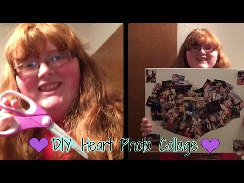 DIY Heart Photo Collage!