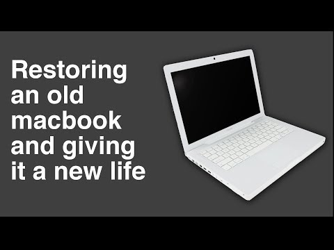 Restoring a 2009 macbook and giving it a new life - part 1