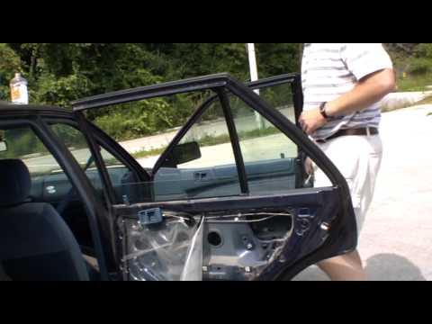 replace broken car side window (part 2 of 2)