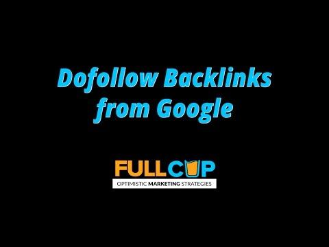 Dofollow Backlinks from Google - SEO