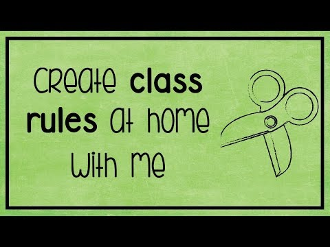 📌DIY  | Create a Class Rules chart with me!