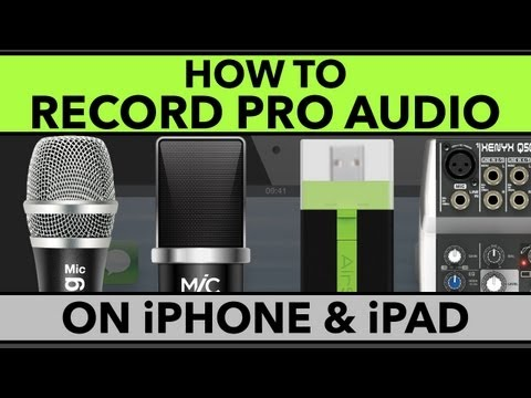 How To Record Pro Audio on iPhone and iPad | Best Mics for iPhone and iPad + Rode Rec Tutorial