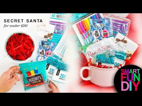 Secret Santa Gift Ideas for under $10 + $20 cheap Christmas Gifts Guide #doingthe99