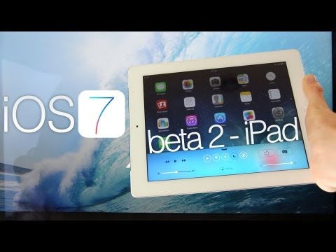 NEW iOS 7 Beta 2 iPad Hands On, Features In-depth Demo & Review