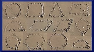 Sand Shapes - Learn Geometric Shapes - The Kids