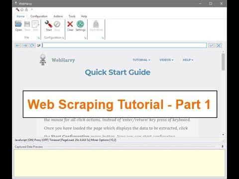 Web Scraping Tutorial using WebHarvy - Introduction