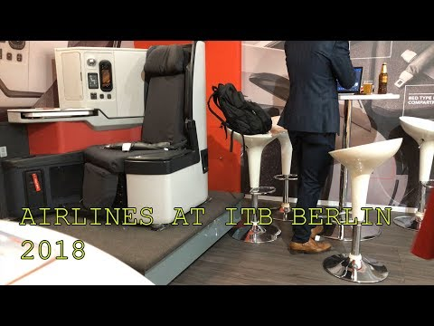Austrian Airlines, Turkish Airlines, Avianca and American Airlines at ITB Berlin 2018