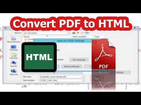 PDF tutorial- How to Export or convert PDF files to HTML by using adobe acrobat pro 2017