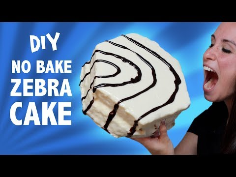DIY NO BAKE ZEBRA CAKE - VERSUS