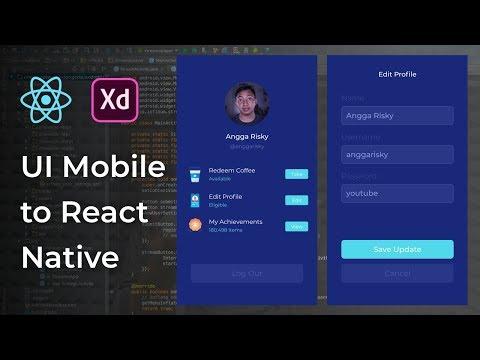 Edit Profile UI Design Adobe Xd to React Native Tutorial