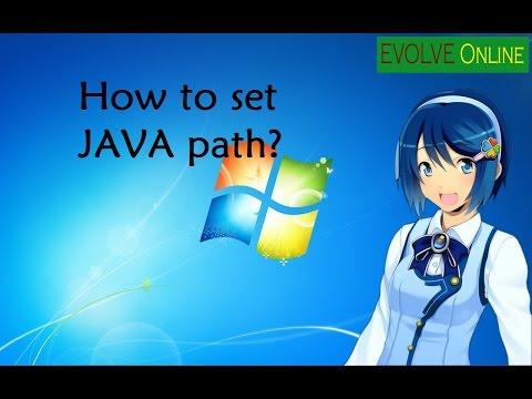 How to set Java Path?