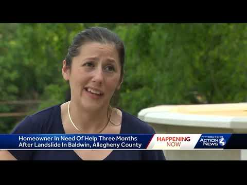 Landslide still affecting Baldwin Township woman's family, who could soon lose home