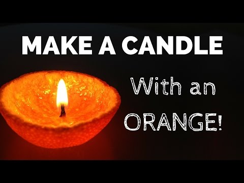 How to Make a Candle With an Orange!