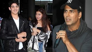 Akshay Kumar's Son Aarav Spotted With A Mystery Girl  At Mumbai Airport