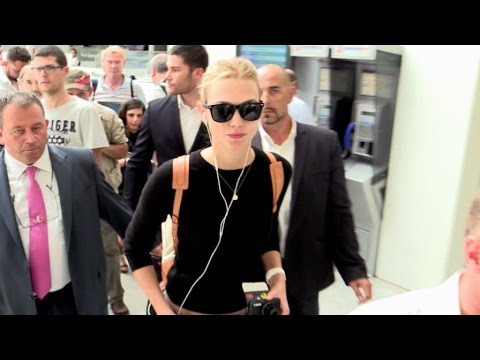 EXCLUSIVE:  Top Model Karlie Kloss arrives at Nice airport for the Cannes festival