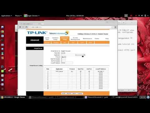 Kali Linux 2 ; Setting NAT/Port Forwarding TD-W8151N
