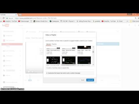 Video - How to add link to another video on YouTube May 2017