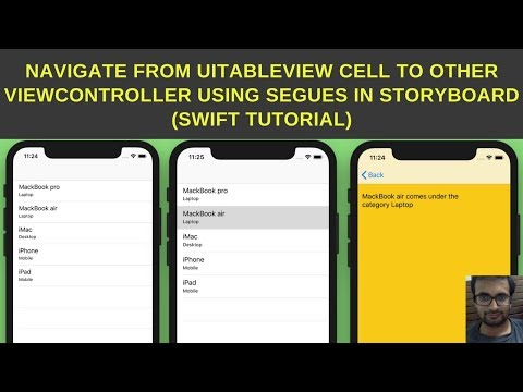 Navigate from UITableView cell to other ViewController using segues in storyboard