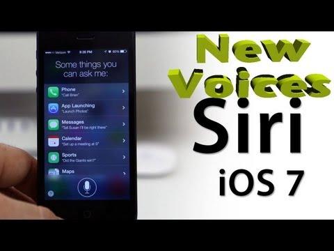 NEW iOS 7 SIRI VOICE | iOS 7 BETA 2 NEW Male & Female voices