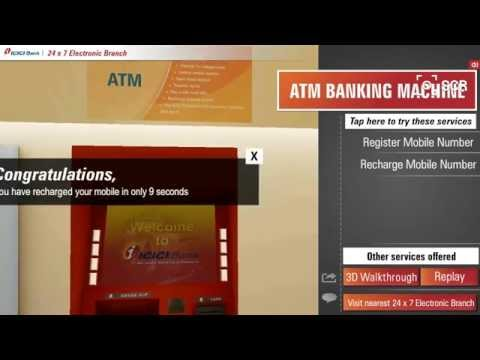 ATM Banking Machine - ICICI Bank's 24 x 7 Electronic Branch