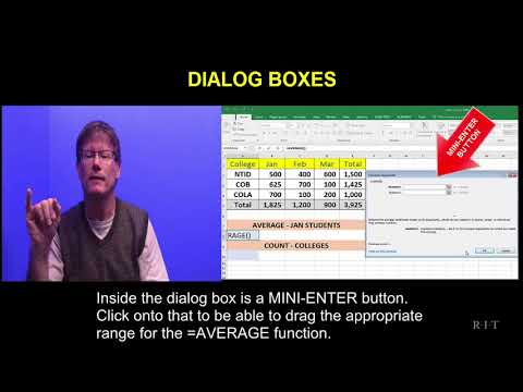 Excel   Dialog boxes