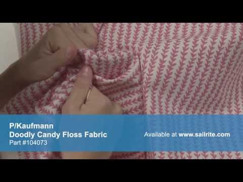 Video of P/Kaufmann Doodle Candy Floss Fabric #104073