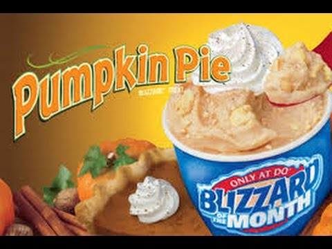 Dairy Queen Pumpkin Pie Blizzard  Review☺ food review.