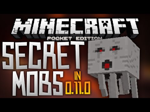 SECRET MOBS in 0.11.0?!?! - Ghasts, Magma Cubes, and More! - Minecraft Pocket Edition 0.11.0 Beta