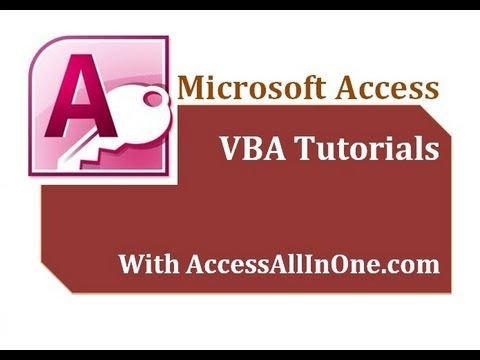 05/17 - VBA  Variables - Microsoft Access Tutorial for Beginners