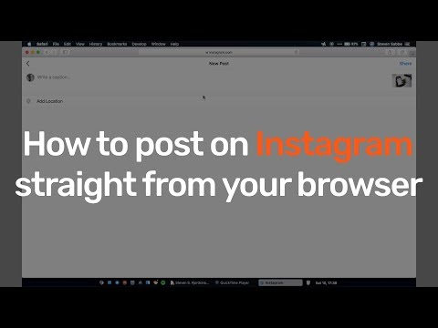 HOW TO post on Instagram from PC/Mac without Android emulator! (2018 version)
