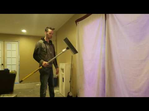How to clean up drywall dust