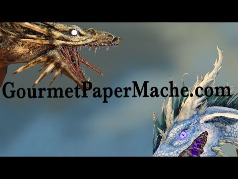 Naughty and Nice Paper Mache Dragons