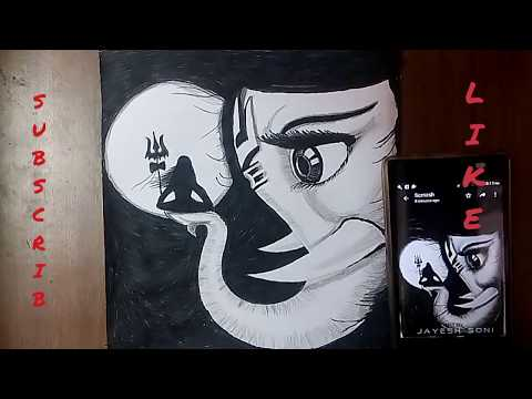 LORD GANESHA drawing only black sketchpen very easy