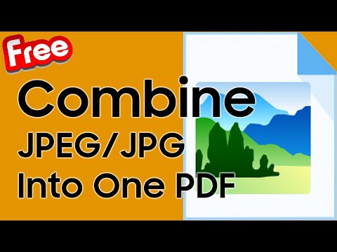 How Do I Combine Multiple JPEGs into one PDF File for Free on Mac?