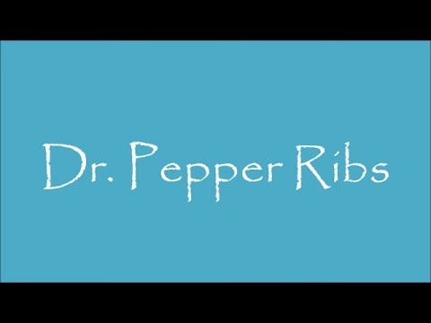 How To Make DR PEPPER RIBS