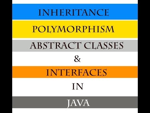 Inheritance Polymorphism Abstract Classes & Interfaces in JAVA under 35 minutes