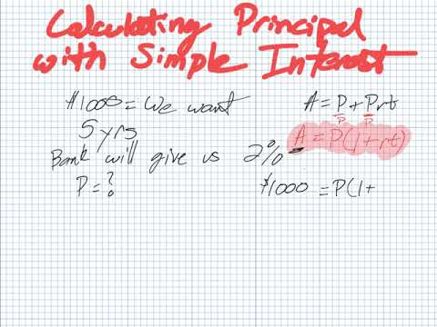 Calculating Principal with Simple Interest (Grade 11 University)
