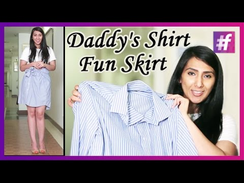 DIY - Make a Fun Skirt Out of Daddy's Shirt